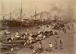Shipping on the Hooghly, Calcutta.